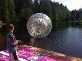 Гидрозорб на изумрудном озере в Токсово