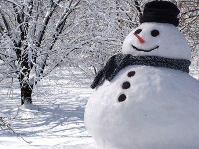 Новогодняя снежная скульптура
