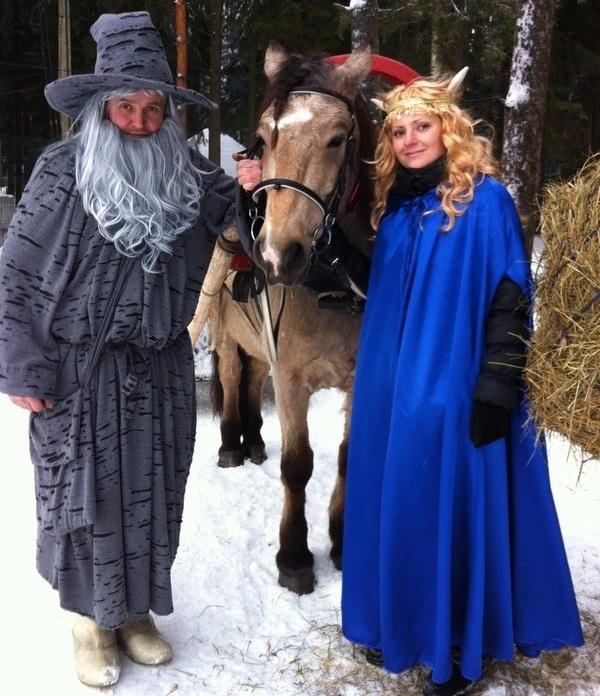 Гендальф и Эльф встречают гостей