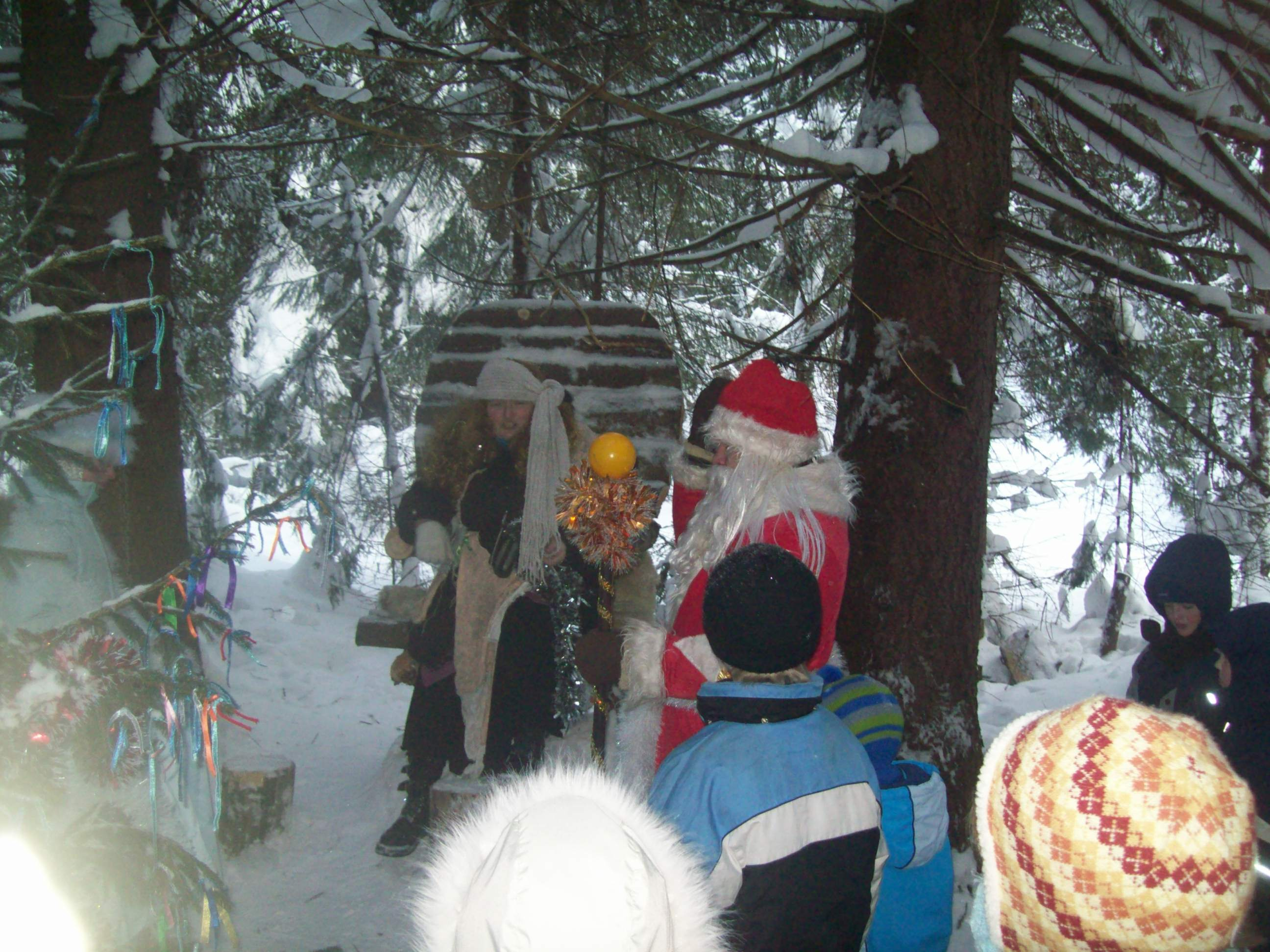 Вот и трон Деда Мороза Баба Яга заняла